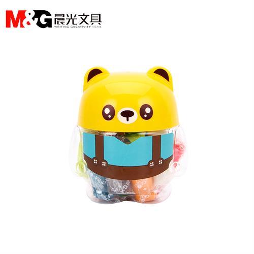 晨光熊猫造型小桶12色彩泥橡皮泥(ake04064)
