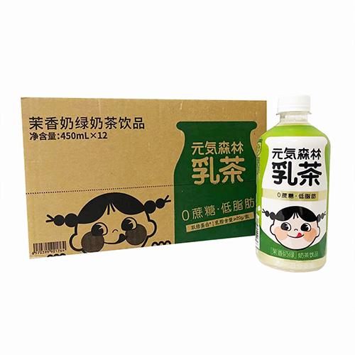 元気森林莉香奶绿奶茶饮品450ml(12入)