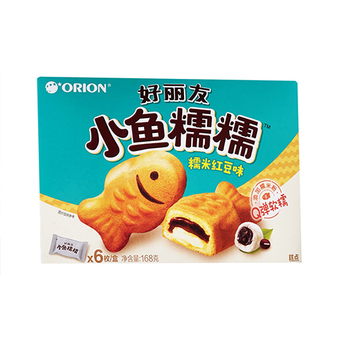 好丽友小鱼糯糯糯米红豆味168g(6枚)