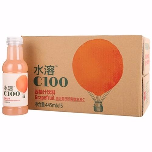 农夫水溶C100西柚汁饮料445ml