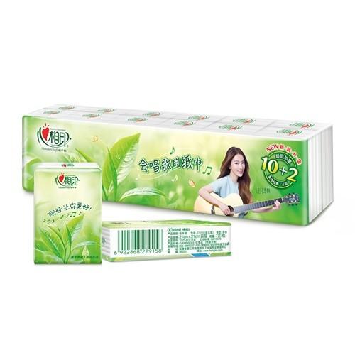 心相印手帕纸茶语系列4层*7片*12包/条【C1710】