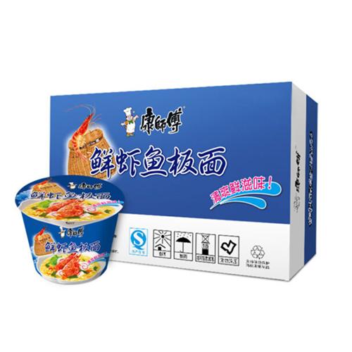 康师傅桶面鲜虾鱼板面100g/桶
