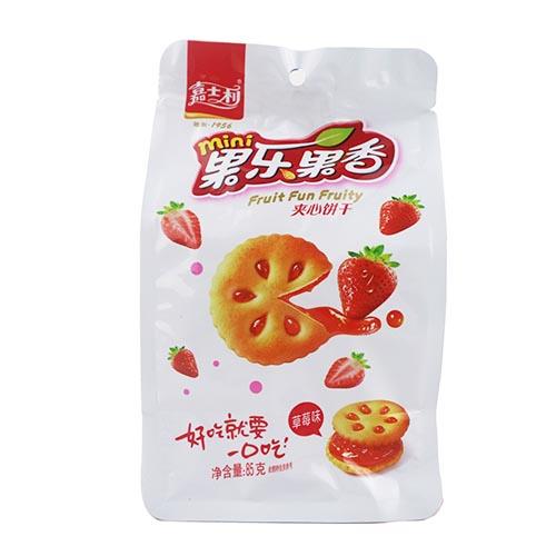 嘉士利果乐果香夹心饼干草莓味85g